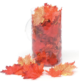 Darice Fall Leaves Silk Maple Leaves 100pk - Orange Mix 1620-98
