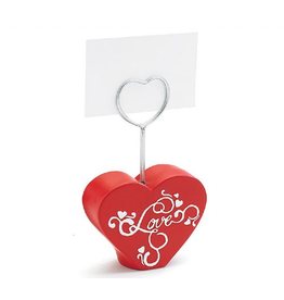 Burton and Burton Love Heart Photo or Place-Card Holder