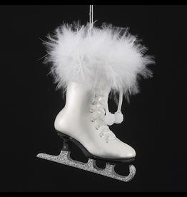 Kurt Adler Noble Gems Glass Ice Skate Ornament