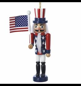 Kurt Adler Patriotic American Flag Nutcracker Ornament 5 Inch