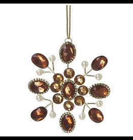 Kurt Adler Christmas Rhinestone Snowflake Ornament