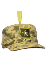 Kurt Adler Army Combat Uniform Cap Military Christmas Ornament