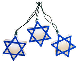Kurt Adler Judaic Hanukkah Star of David 10 Light Set J7654 Kurt Adler