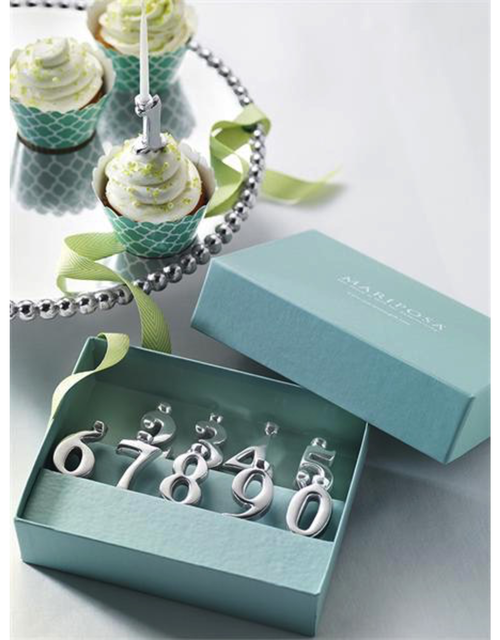 Mariposa Birthday Numbers 1-10 Candle Holder Set