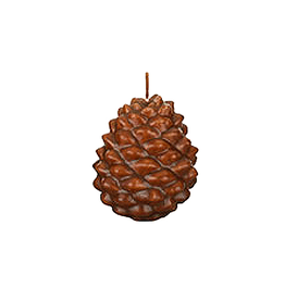 Pine Cone Candle 3.5H Brown