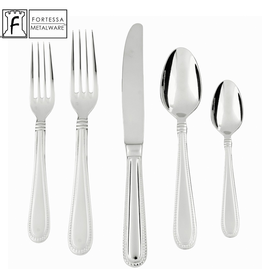 Fortessa Fortessa Caviar Stainless Steel Flatware Set 5-Piece Setting