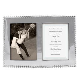 Mariposa Photo Wedding Frame Beaded 5x7 Double Frame 3713