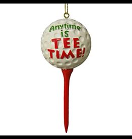 Kurt Adler Golfers Ornament Golf Ball Anytime is Tee Time -A