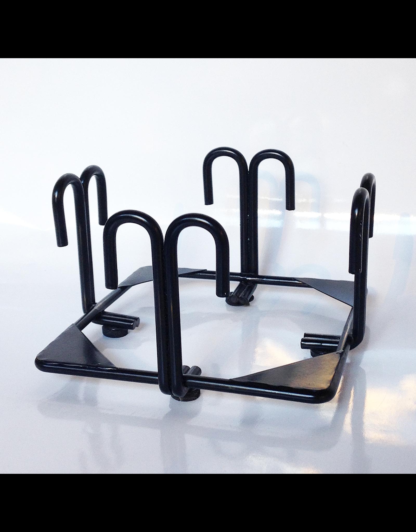 Digs Black Metal Coaster Holder 4x4