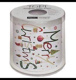 Topi Toilet Paper Christmas Toilet Paper Merry Christmas TOPI Designer Toilet Paper