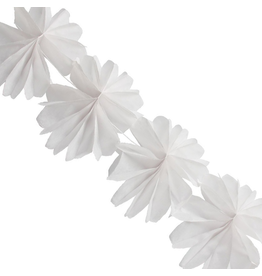 Tissue Flower Garland 84L inches White by Party Partners