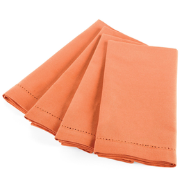 Mud Pie Dinner Napkins 107042 Rust Hemstitch Napkin Set/4