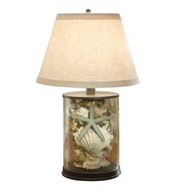 Regina Andrew Design Coastal Lamp w Shells Under Glass
