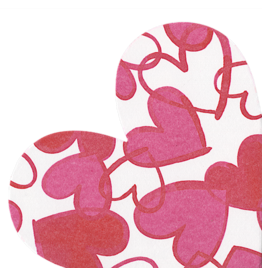 Caspari Valentines Paper Linen Napkins 15pk Painted Hearts Shaped Die Cut