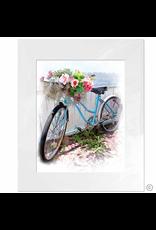 Maureen Terrien Photography Art Print  Blue Bike 11x14 - 8x10 Print