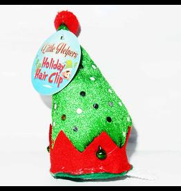 DM Merchandising Mini Santa Elf Christmas Hat Hair Clip - C