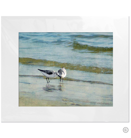 Maureen Terrien Photography Art Print 2 Sandpipers I 11x14 - 8x10 Matted