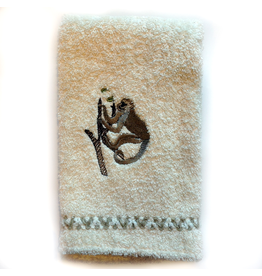 Embroidered Guest Towel w Monkey