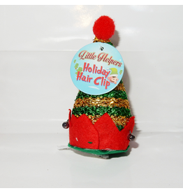 DM Merchandising Mini Santa Elf Christmas Hat Hair Clip - J