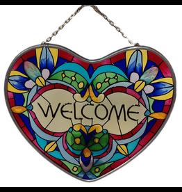 Joan Baker Designs Hangable Heart Welcome Sign 5 Inch