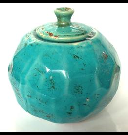 NAPA Firelites Decorative Turquoise Jar 10834CBX-TQ