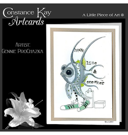 Constance Kay Art Card Hook Line and Sneaker by Constance Kay