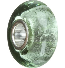 Chamilia Charm Murano Glass Bead O-70 Green with Silver