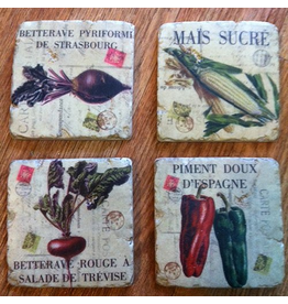 Mark Roberts Stylish Home Decor Vegetable Medley Coasters Set of 4