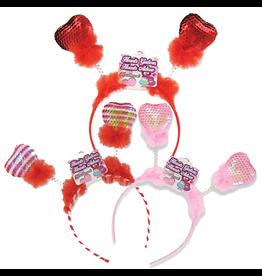 DM Merchandising Valentines Day Sequin Hearts Bobble Headband
