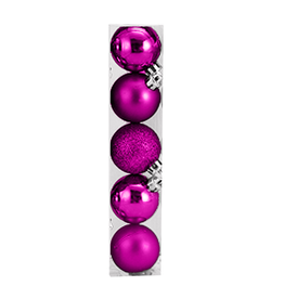 Kurt Adler Christmas Shatterproof Ball Ornament 60MM Set of 5 Pink