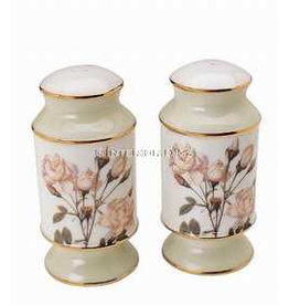 Artis Orbis Smithsonian Collection White Rose Salt Pepper Shakers