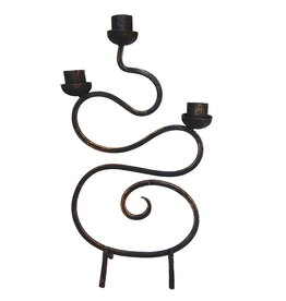 Digs Iron Taper Candle Holder 12x7 inches