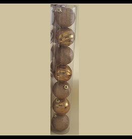 Kurt Adler Christmas Shatterproof Ball Ornament 70MM Set of 7 Copper