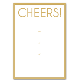 Caspari Party Invitations Cheers Invites 8pk
