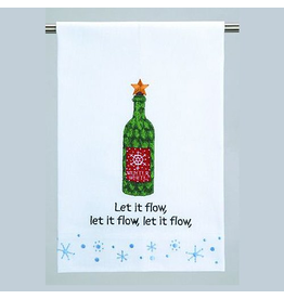 Peking Handicraft Christmas Kitchen Guest Towel Let it Flow 16x25