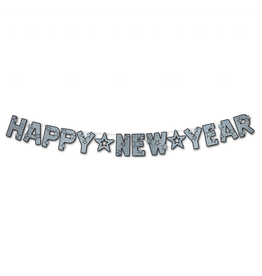 Burton and Burton Happy New Year Banner Glittered Streamer Decoration
