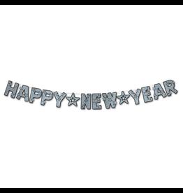 Burton and Burton Happy New Year Banner Glittered Streamer Decoration