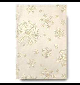 Glitter Snowflake Napkins Set of 4 Cream Gold