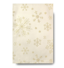 Harman Glitter Snowflake Napkins Set of 4 Cream Gold
