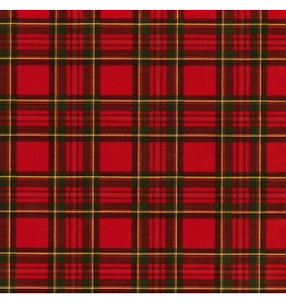 Caspari Christmas Gift Wrapping Paper 8ft Roll Royal Plaid Foil
