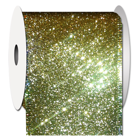 Ribbons Trims 97492W-035 Glitter Gold Ribbon 2.5W inch