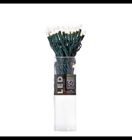 Kurt Adler Christmas 50 Light String Set 3MM LED Warm White Green Wire