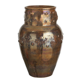 Luster Vase Umbrella Stand Bucchero Style LUS-3286