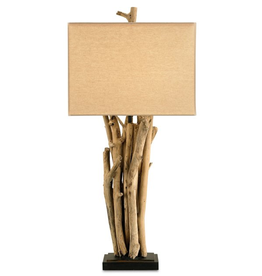 Currey and Company Driftwood Table Lamp 6344 Lamps Lighting