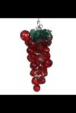 Kurt Adler Beaded Acrylic Wine Grapes Ornaments Red