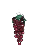 Kurt Adler Beaded Acrylic Wine Grapes Ornaments Burgundy Purple