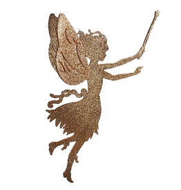 Katherine's Collection Fairy Decor Gold Fairy w Wand Silhouette Katherines Collection