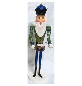 Kurt Adler Tin Nutcracker Band Player Tabletop Piece 15 Inch Green