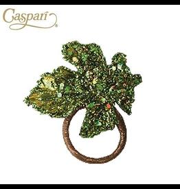 Caspari Green Leaf Napkin Ring