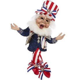 Mark Roberts Fairies Patriotic Elves i Love The USA Elf 11.5 Inch